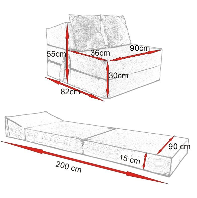rozkladací matrac